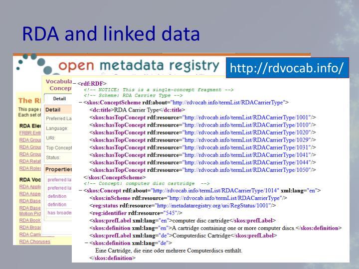 RDA and linked data