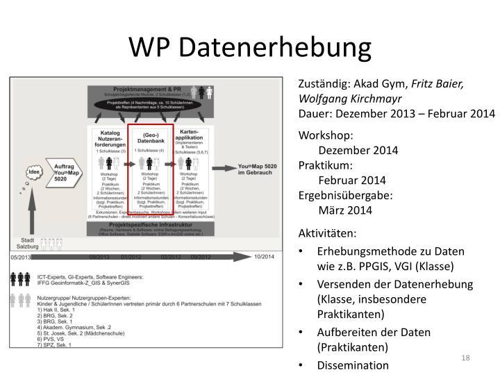 WP Datenerhebung