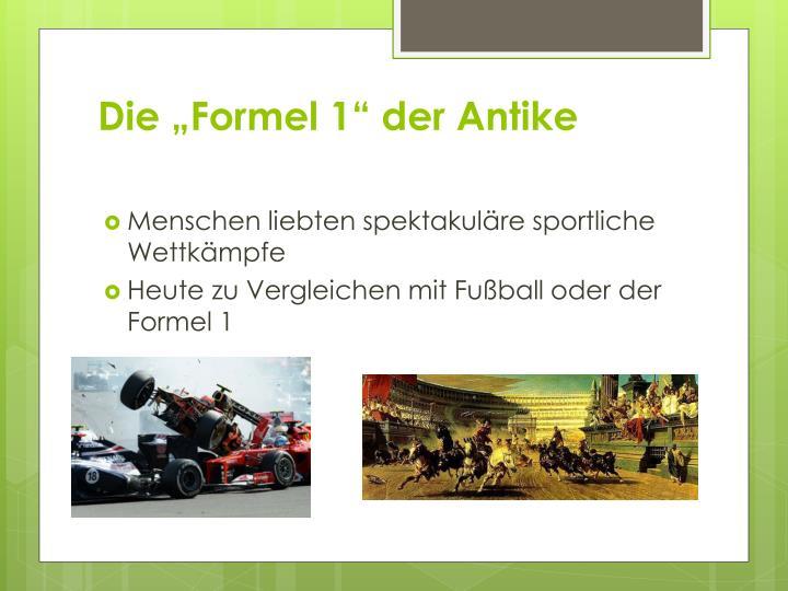 """Die """"Formel 1"""" der Antike"""