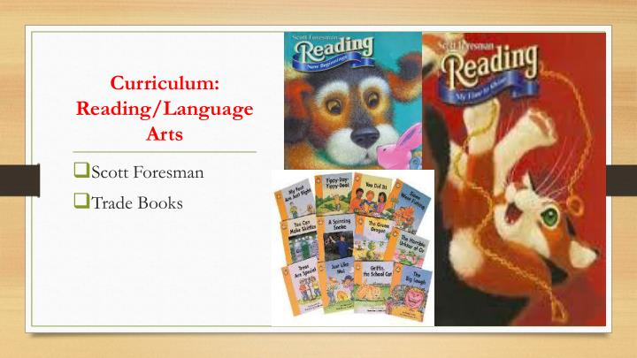 Curriculum: Reading/Language Arts
