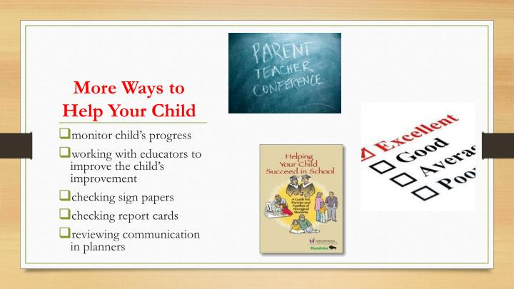 More Ways to Help Your Child