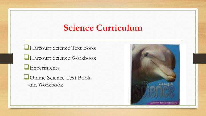 Science Curriculum