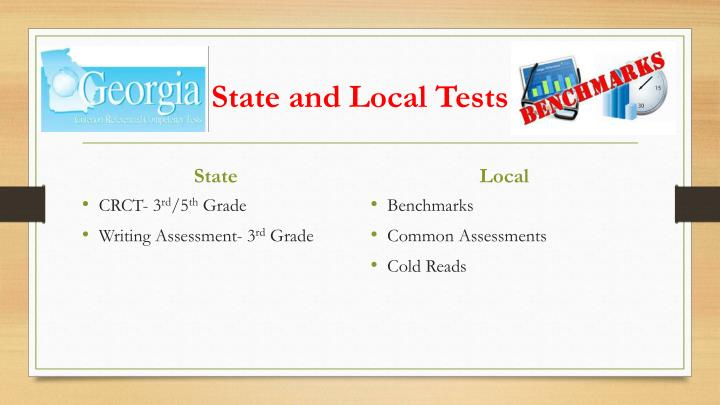 State and Local Tests