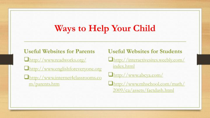 Ways to Help Your Child