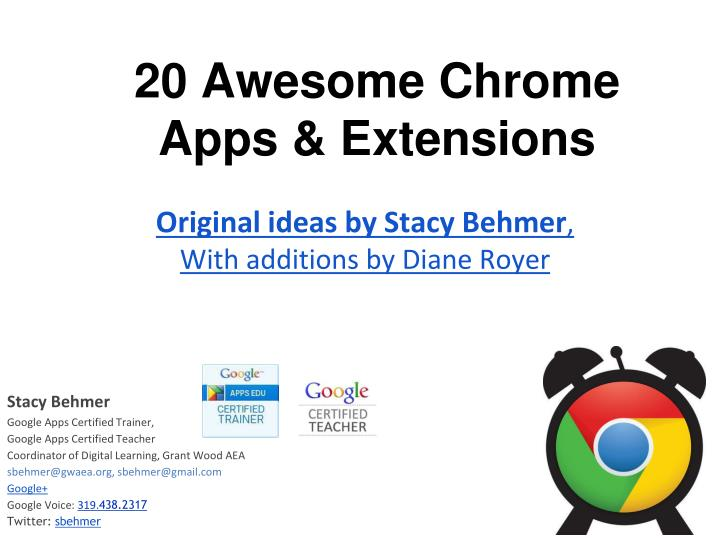 20 awesome chrome apps extensions