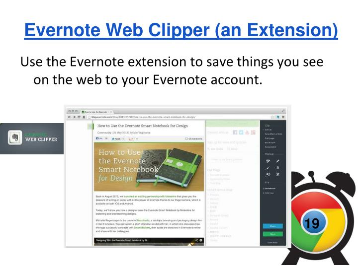 Evernote Web Clipper (an Extension)