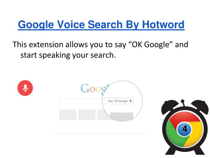 Google Voice Search By Hotword