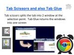 tab scissors and also tab glue