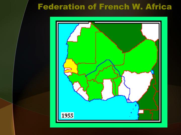 Federation of french w africa