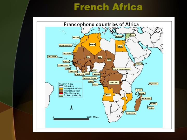 French africa