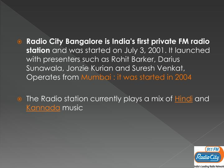 Radio City Bangalore