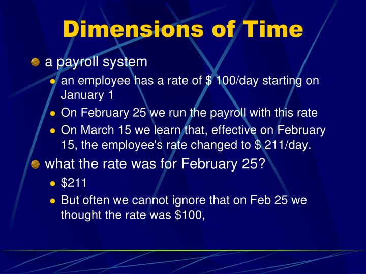 Dimensions of Time