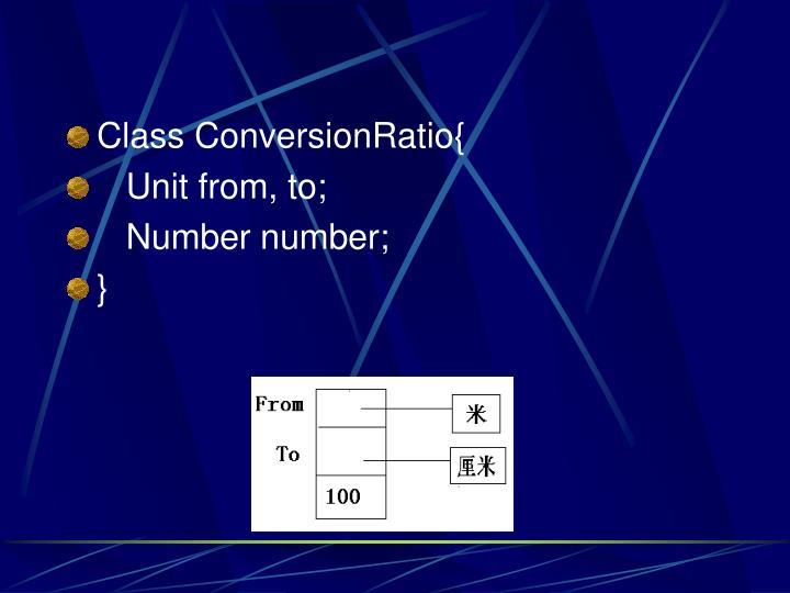 Class ConversionRatio{