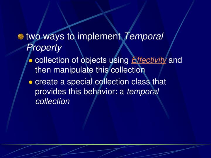 two ways to implement