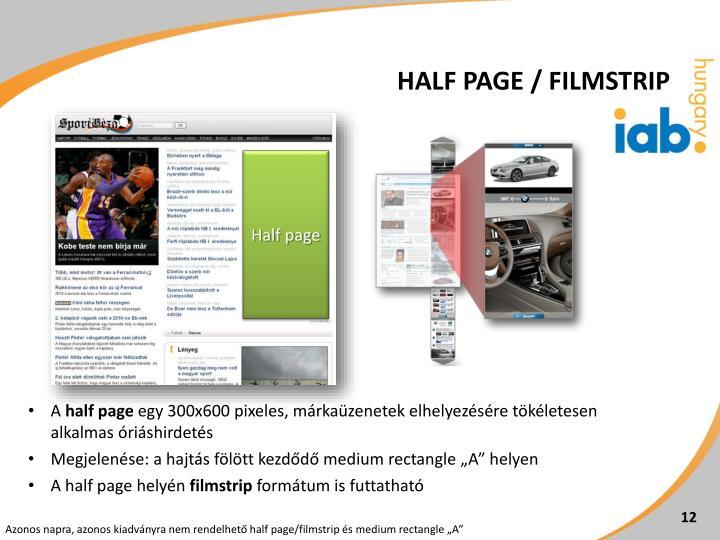 Half page / filmstrip