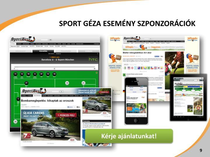 Sport Géza esemény szponzorációk