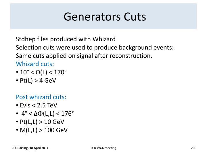Generators Cuts