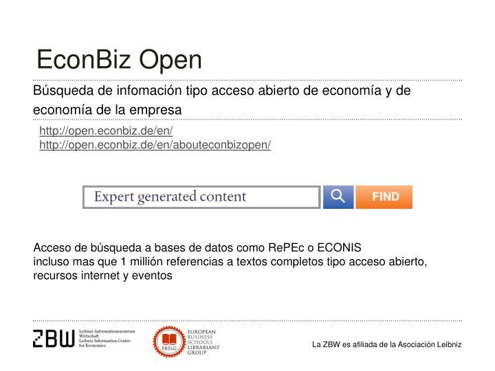 EconBiz Open