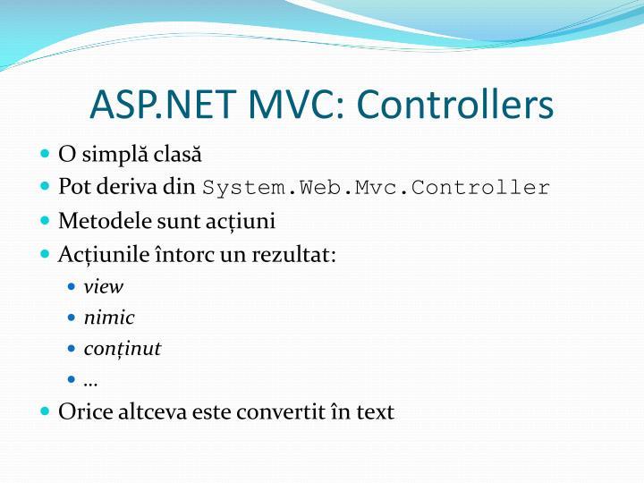 ASP.NET MVC: