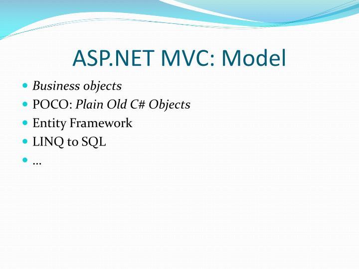 ASP.NET MVC: Model