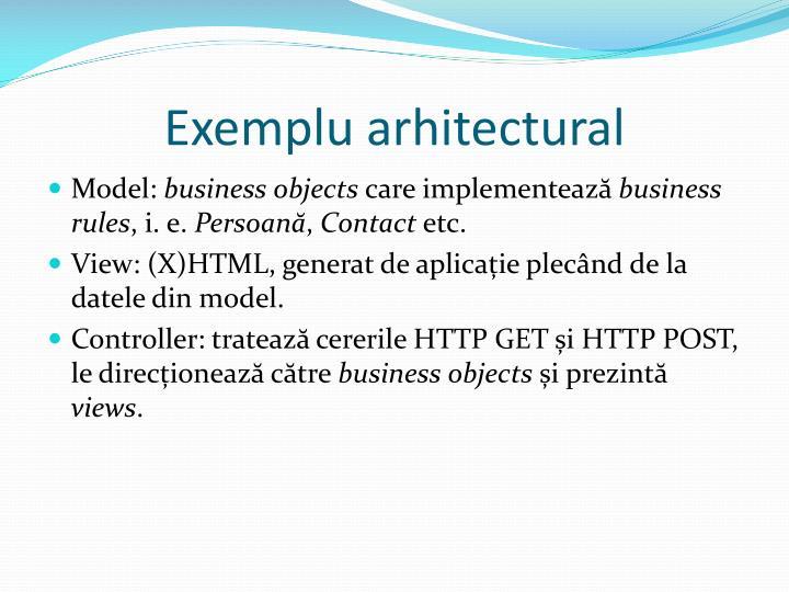 Exemplu arhitectural