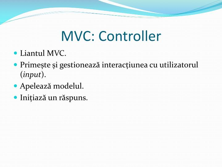 MVC: Controller