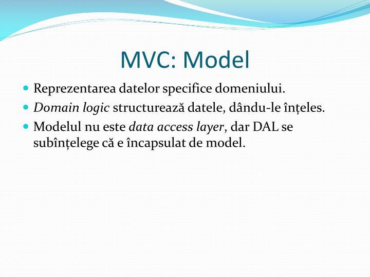 MVC: Model