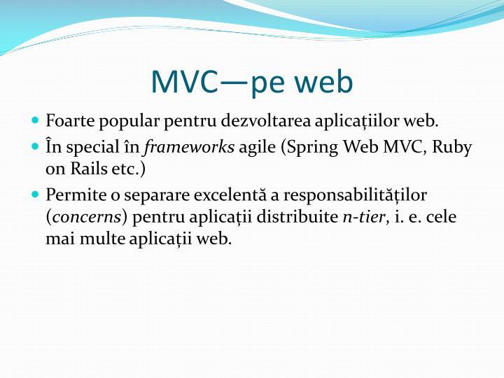 MVC—pe web