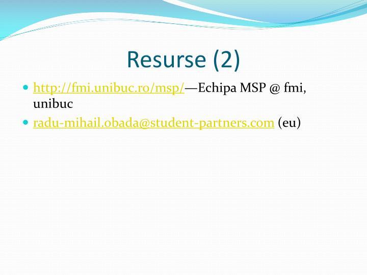 Resurse (2)