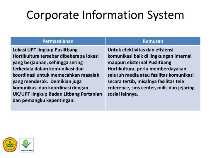 Corporate Information System