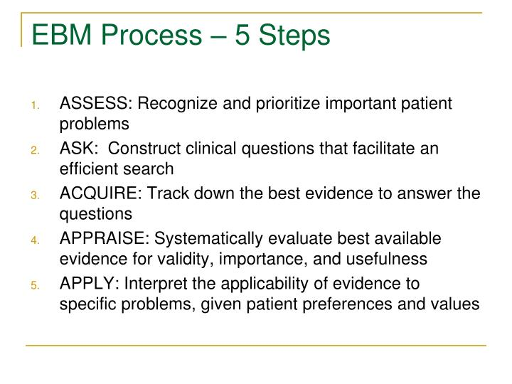 EBM Process – 5 Steps