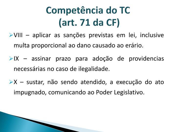 Competência do TC