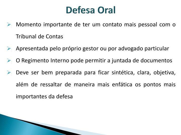 Defesa Oral