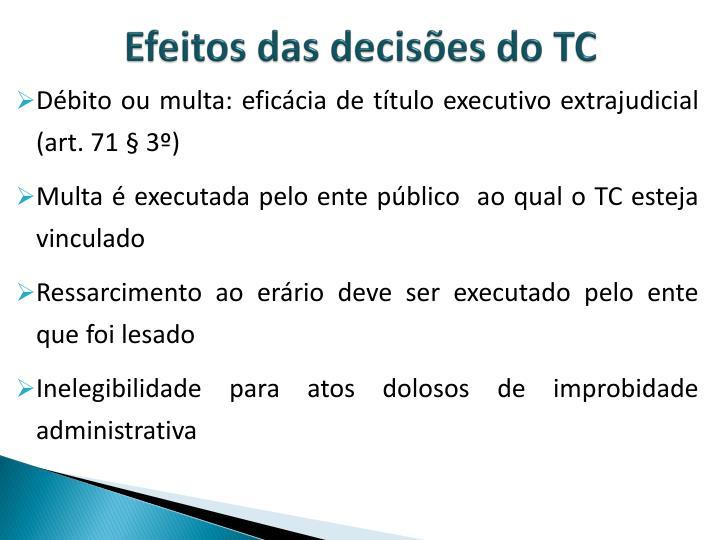 Efeitos das decisões do TC