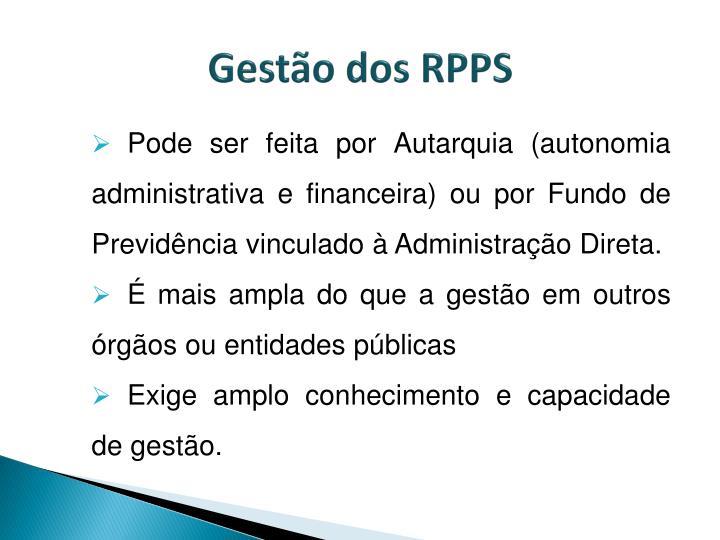Gestão dos RPPS