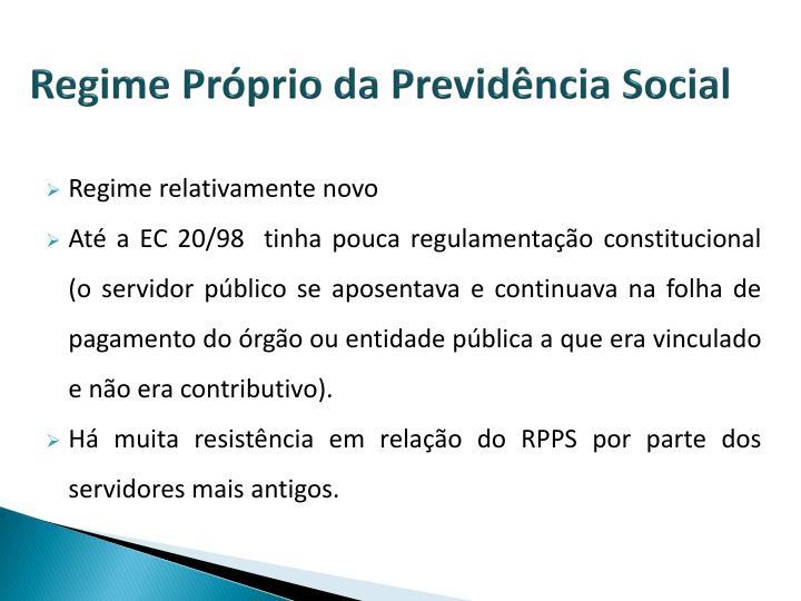 Regime Próprio da Previdência Social