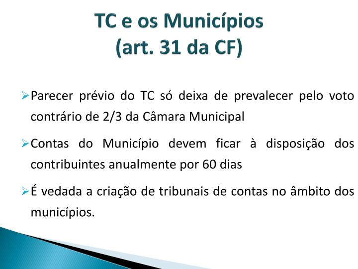 TC e os Municípios