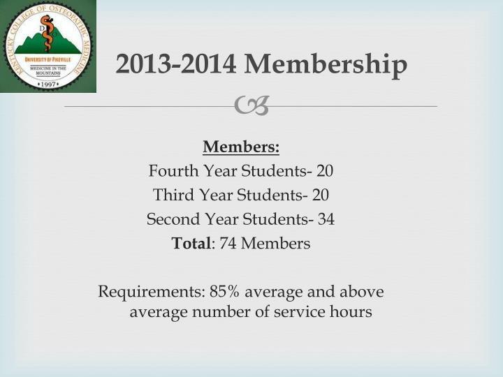 2013-2014 Membership