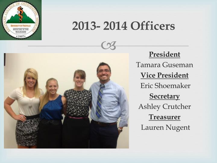 2013- 2014 Officers