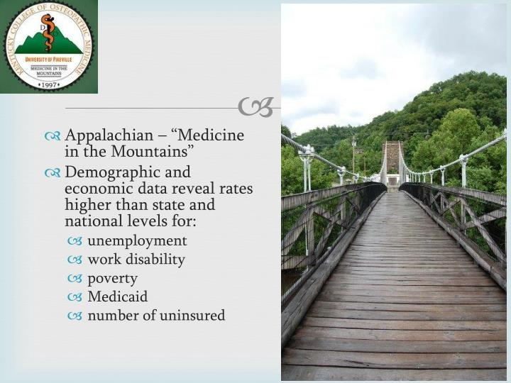 "Appalachian – ""Medicine in the Mountains"""