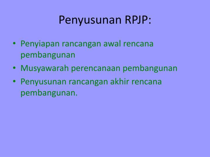 Penyusunan RPJP: