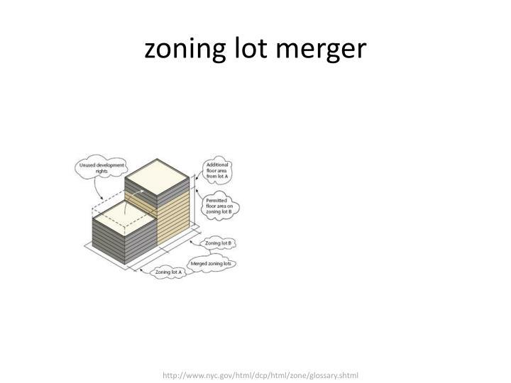 zoning lot merger