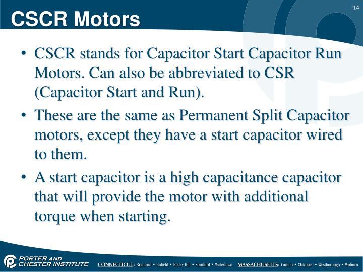 CSCR Motors