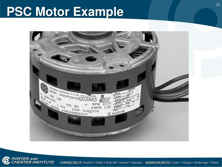 PSC Motor Example