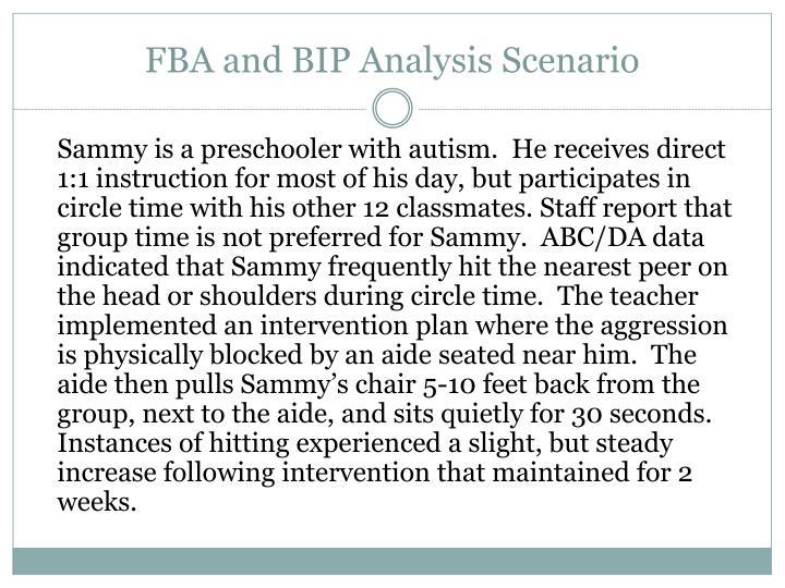 FBA and BIP Analysis Scenario