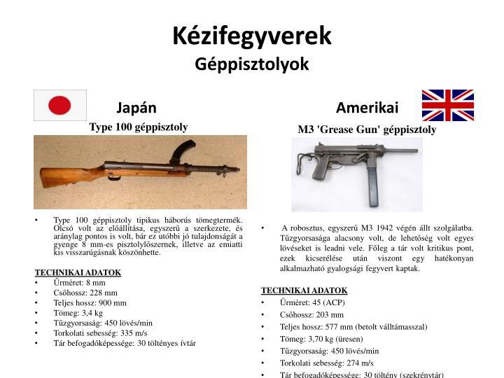 Kézifegyverek