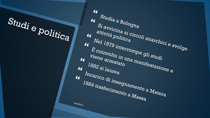 Studia a Bologna