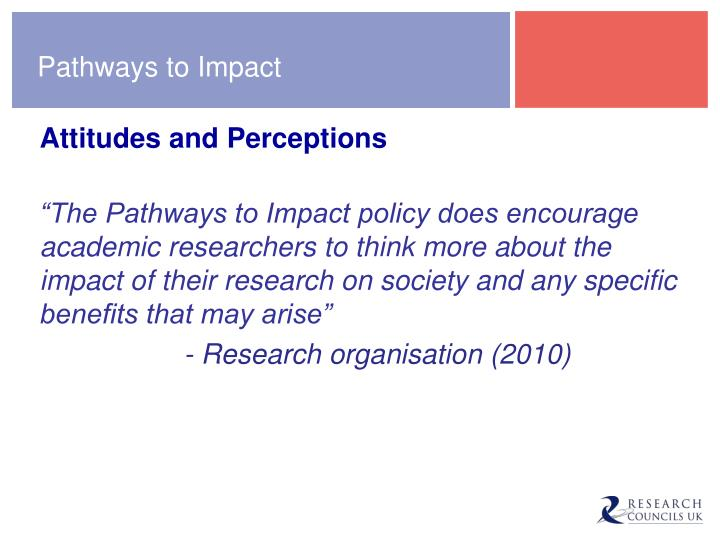 Pathways to Impact