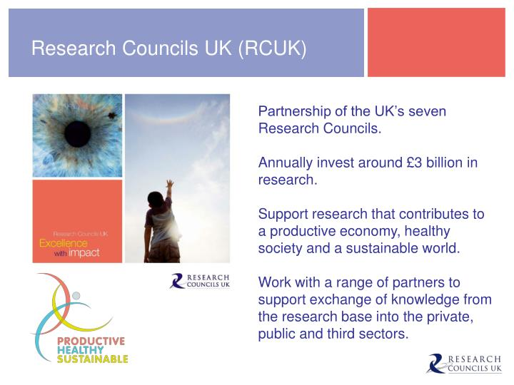 Research Councils UK (RCUK)