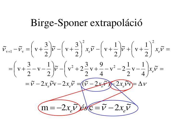 Birge-Sponer extrapoláció